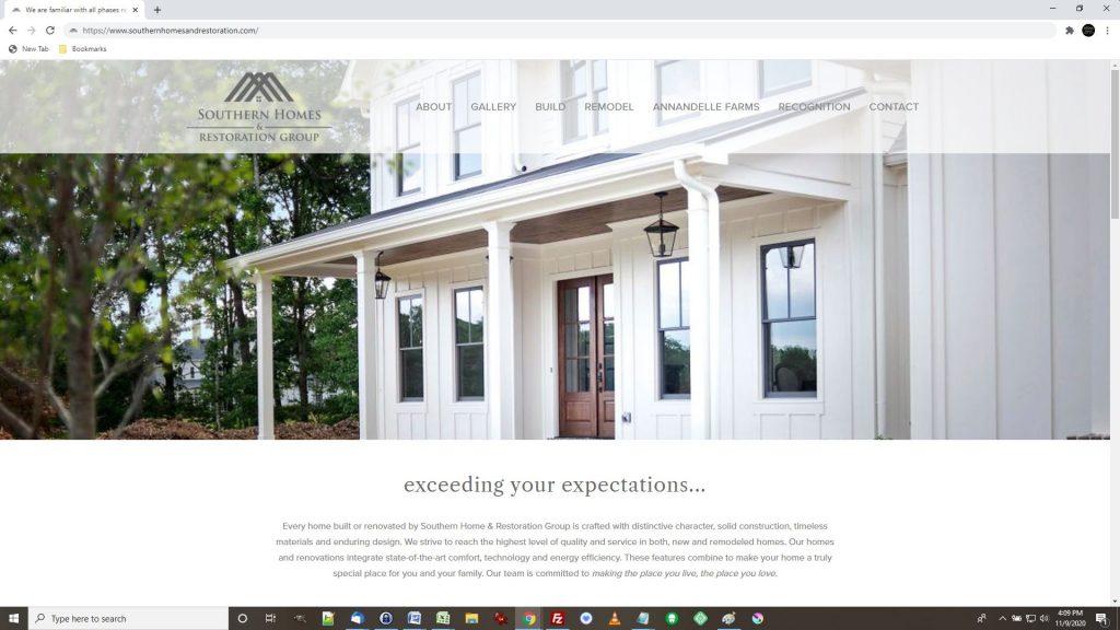 New Homes Construction Website Development